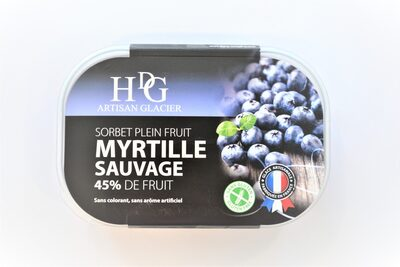 Sorbet plein fruit MYRTILLE SAUVAGE, 58% de fruit - Product