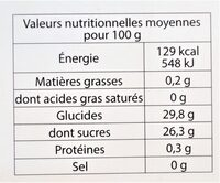 Sorbet plein fruit MYRTILLE SAUVAGE, 58% de fruit - Nutrition facts