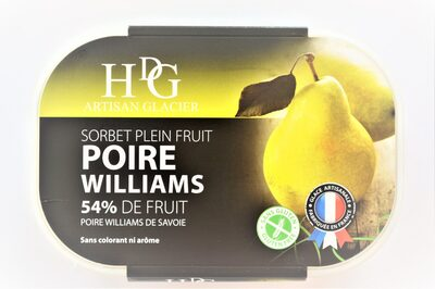 Sorbet plein fruit POIRE WILLIAMS, 54% de fruit - Product