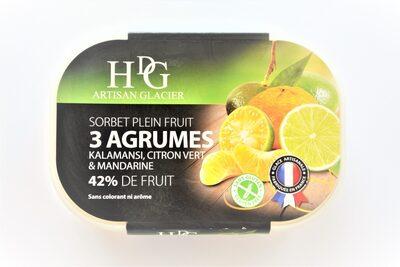 Sorbet plein fruit 3 AGRUMES, 42% de fruit - Product