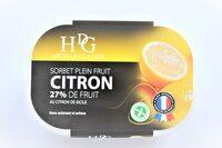 Sorbet plein fruit CITRON, 27% de fruit - Product