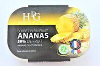 Sorbet plein fruit ANANAS, 59% de fruit - Product