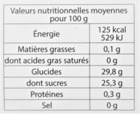 Sorbet plein fruit ANANAS, 59% de fruit - Voedigswaarden