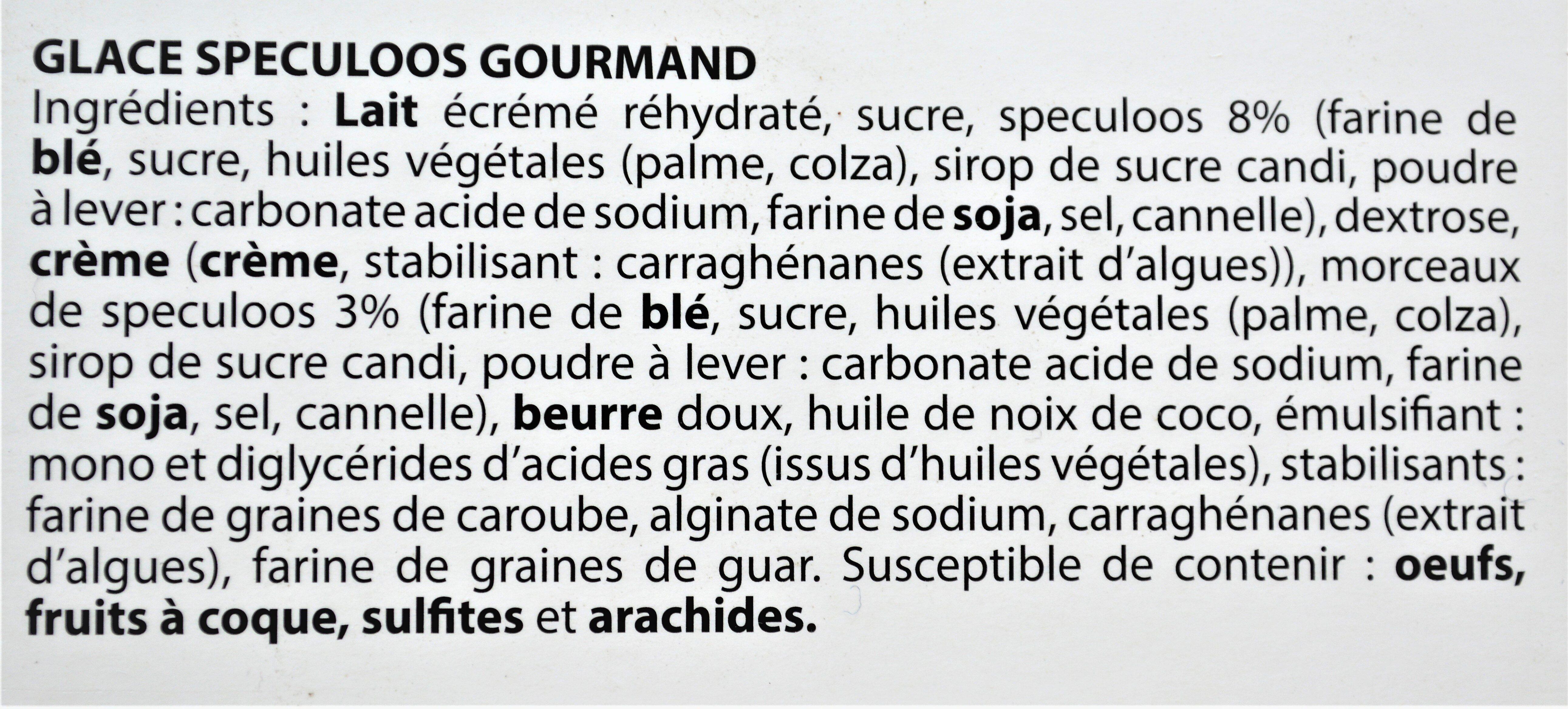 Glace SPECULOOS GOURMAND - Ingrediënten - fr