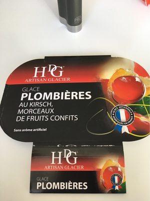 Histoires de glaces Glace Plombières au kirsch, morceaux fruits confits - Product