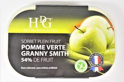 Sorbet plein fruit POMME VERTE GRANNY SMITH, 54% de fruit - Product