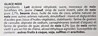 Glace NOIX & morceaux de noix torréfiées - Ingredients