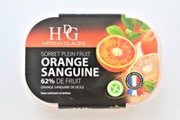 Sorbet plein fruit ORANGE SANGUINE, 62% de fruit - Produit