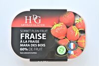 Sorbet plein fruit FRAISE à la fraise Mara des Bois, 60% de fruit - Product