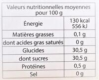 Sorbet plein fruit FRAISE à la fraise Mara des Bois, 60% de fruit - Nutrition facts