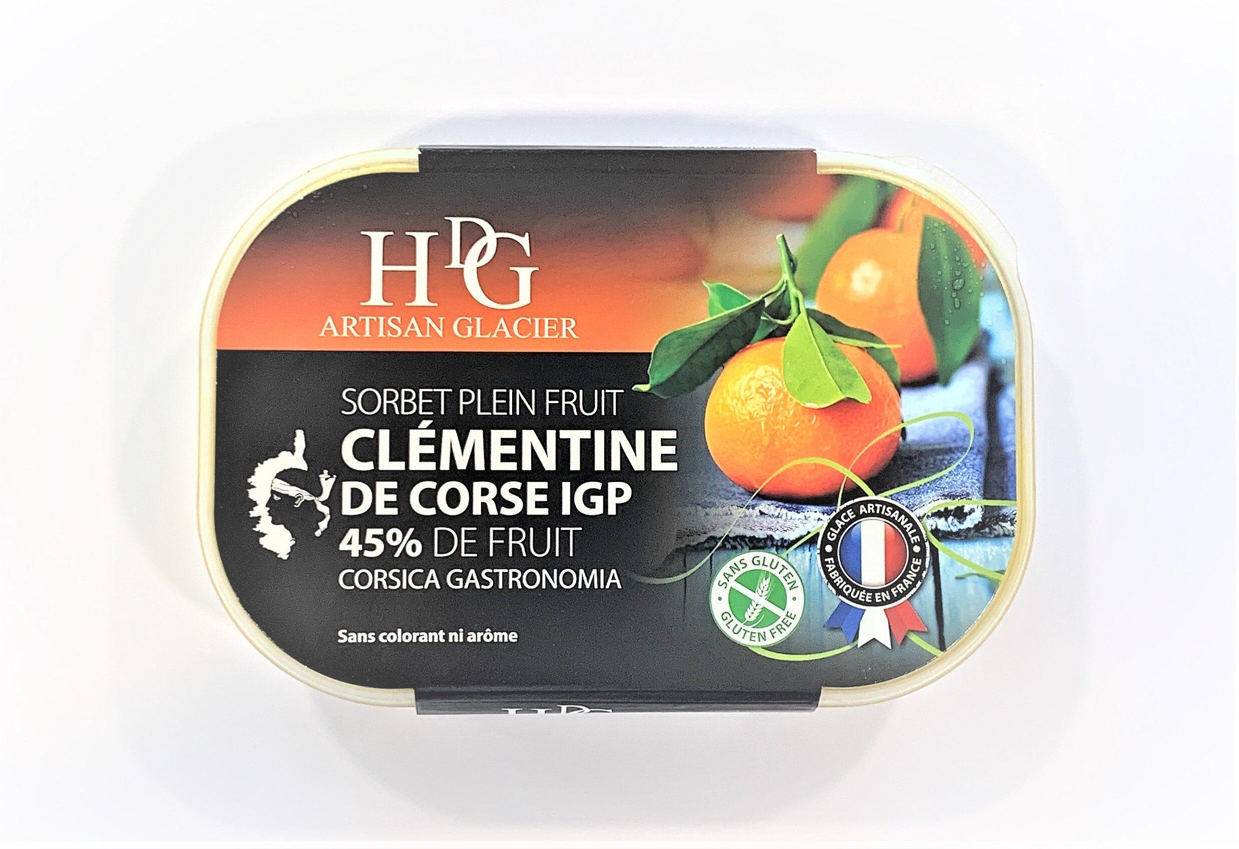 Sorbet plein fruit CLEMENTINE CORSE IGP, 45% de fruit - Product