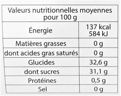 Sorbet plein fruit CLEMENTINE CORSE IGP, 45% de fruit - Voedingswaarden