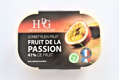 Sorbet plein fruit FRUIT DE LA PASSION, 41% de fruit - Product