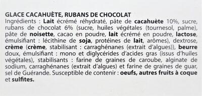 Glace Cacahuète - Ingrédients