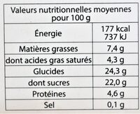 Glace VANILLE BOURBON DE MADAGASCAR BIO - Nutrition facts