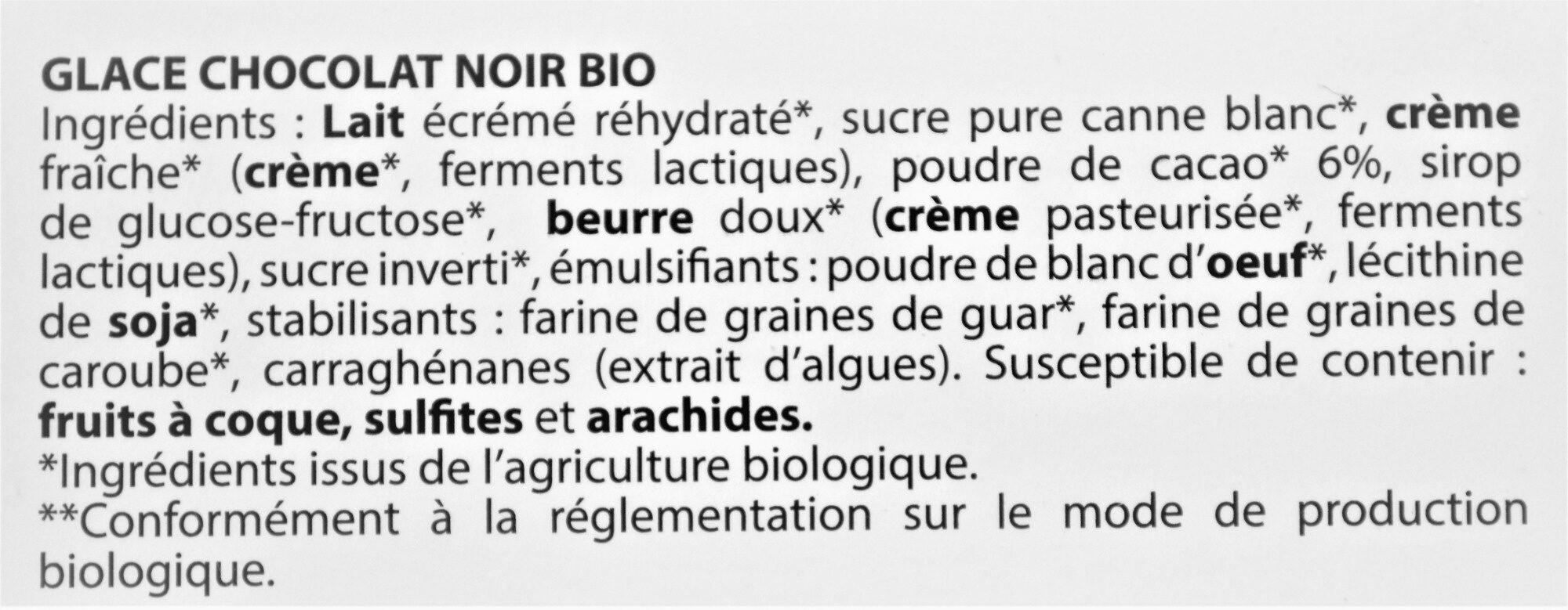 Glace Chocolat Noir bio - Ingredients