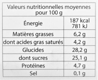 Glace Chocolat Noir bio - Nutrition facts