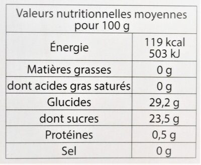Sorbet plein fruit FRAISE BIO, 55% de fruit - Nutrition facts - fr