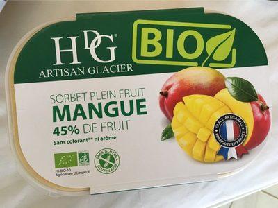 Sorbet plein fruit MANGUE BIO, 45% de fruit - Product