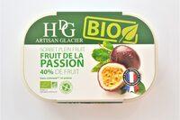 Sorbet plein fruit FRUIT DE LA PASSION BIO, 40% de fruit - Product