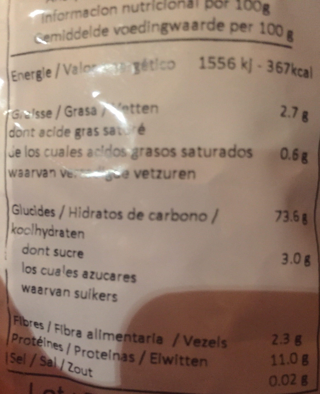Fusilli riz 3 couleurs - Ingrédients
