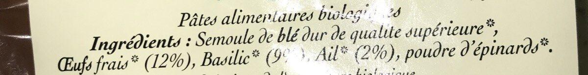 Rubans Ail Basilic - Ingredients - fr