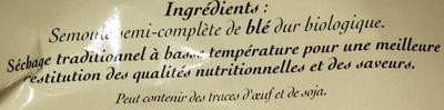 Langue d' oiseau semi complet - Ingredients