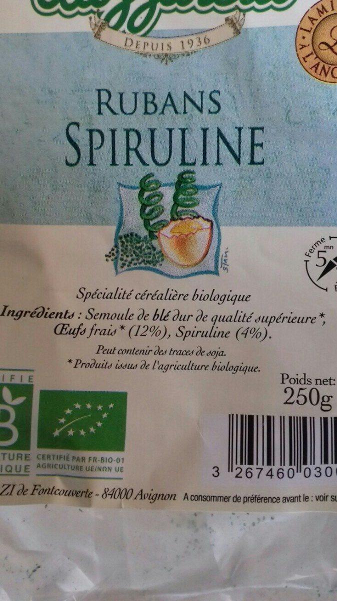Pâte spiruline - Ingrediënten