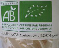 Tagliatelles natures bio - Nutrition facts - fr