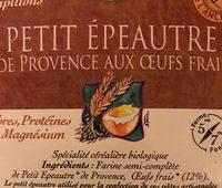 250G Papillons De Petit Epeautre - Ingredients - fr