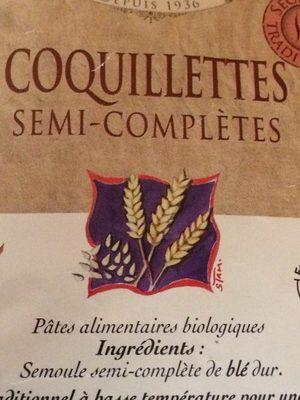 Pâtes Demi-complètes - Ingredients