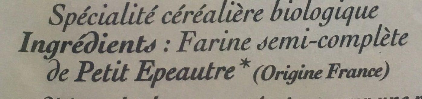 Coquillette petite épeautre - Ingrédients - fr
