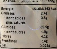 Tagliatelles ail basilic - Voedingswaarden - fr