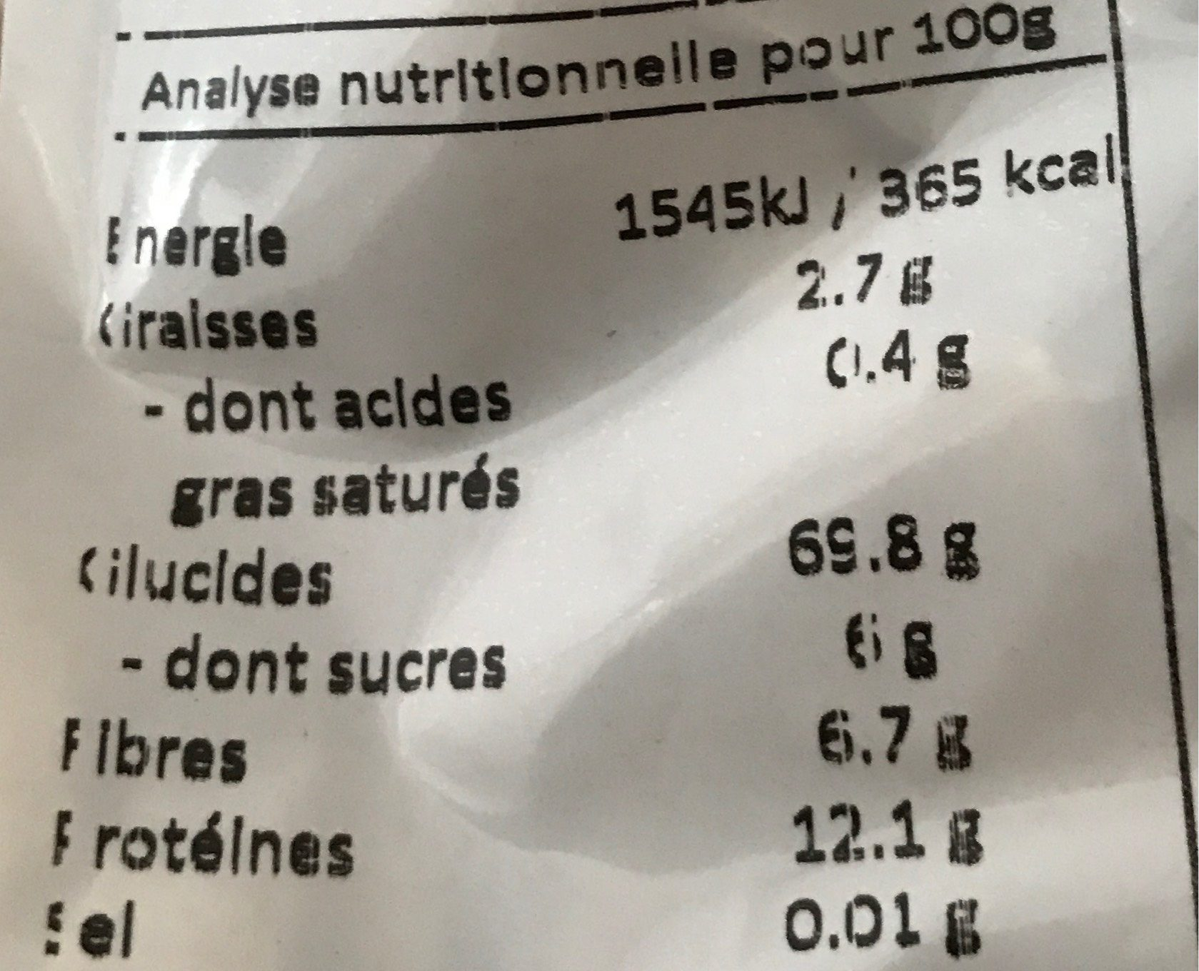 Tagliatelles de petit epeautre aux oeufs - Nutrition facts