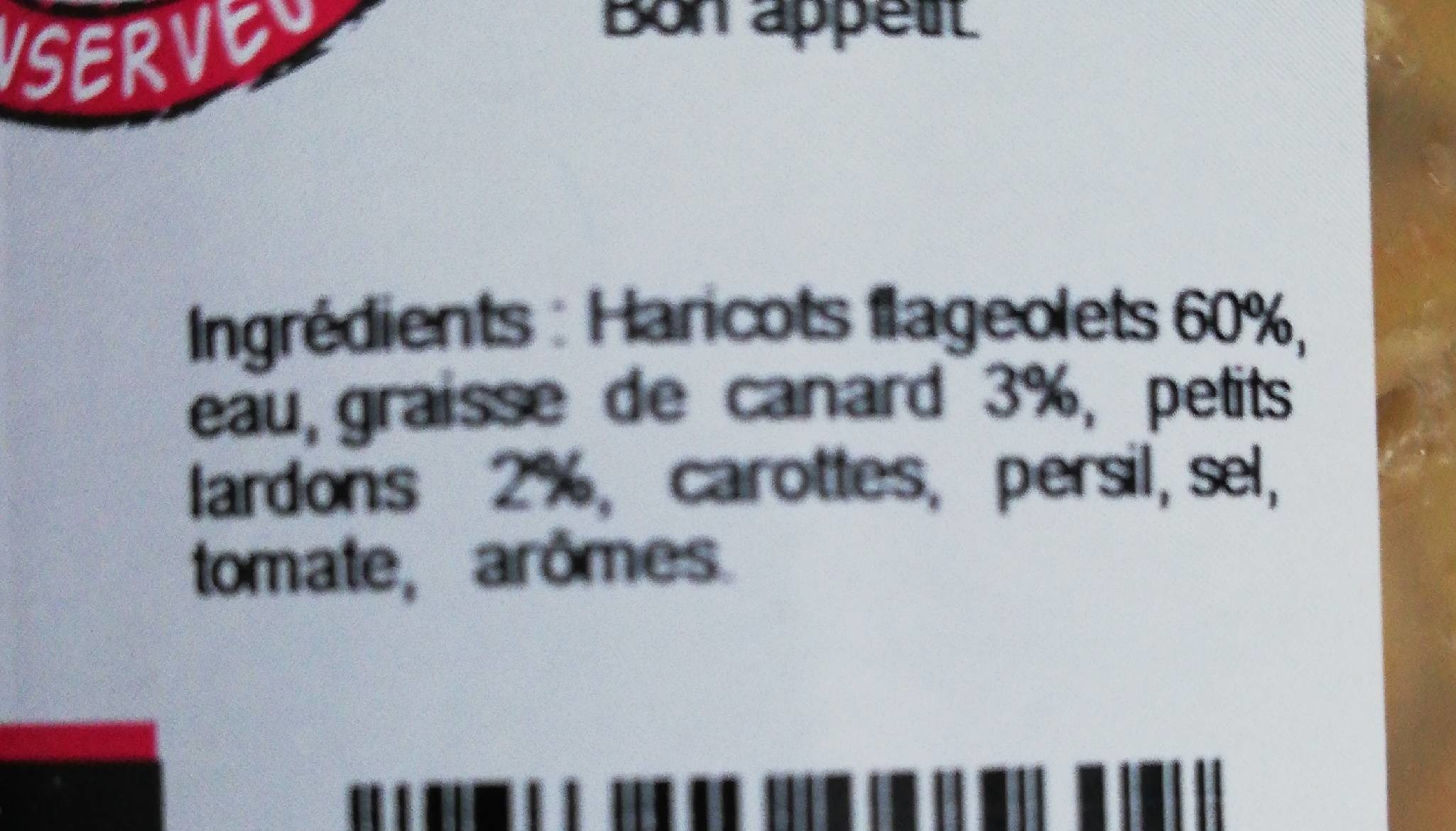 Flageolets - Ingredients