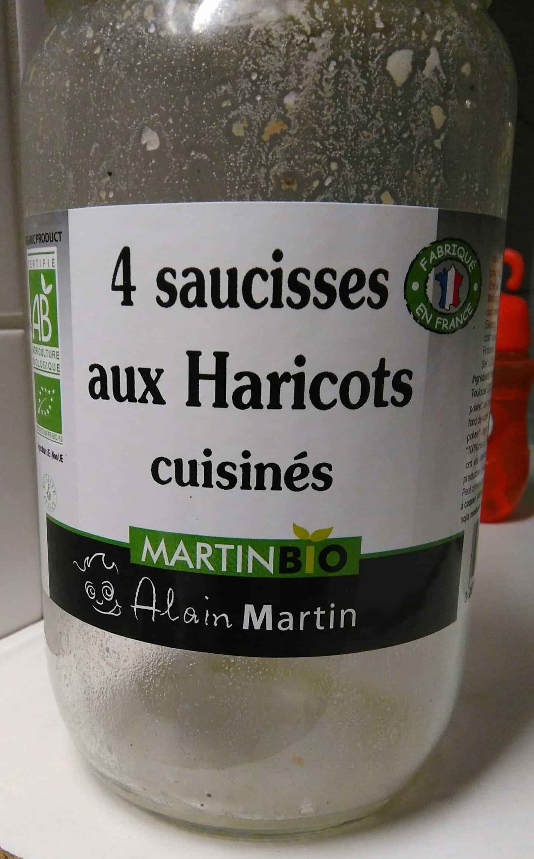 4 saucisses aux Haricots cuisinés - Produit - fr