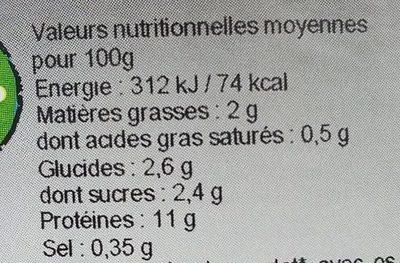 Poulet basquaise bio - Nährwertangaben - fr