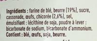 Gaufres fines Pur Beurre à la Chicorée - Ingrediënten