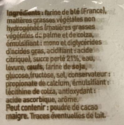 Gaufre Liégeoise aux Perles de Sucre - Ingrédients - fr
