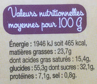 Gaufres Artisanales - Nutrition facts