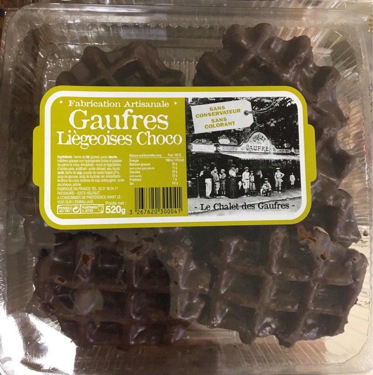 Gaufres Liègeoises Choco - Produit