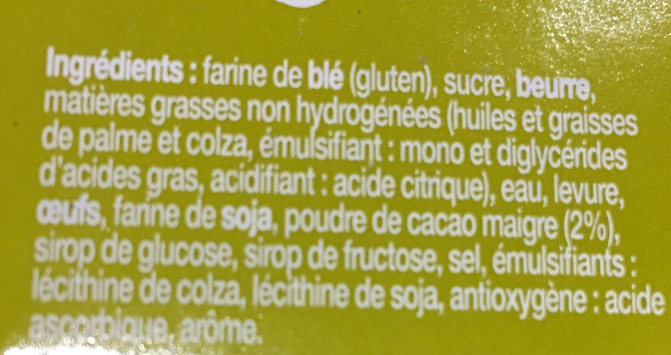 Gaufres Liègeoises Choco - Ingrédients
