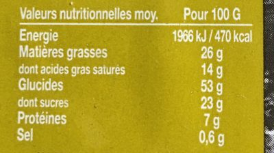 Gaufres Liègeoises Choco - Informations nutritionnelles