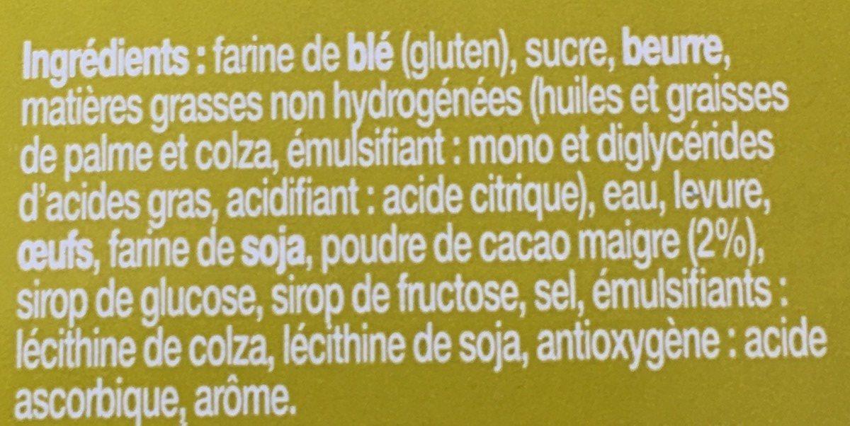 Gaufres Liégeoises Choco - Ingrédients - fr