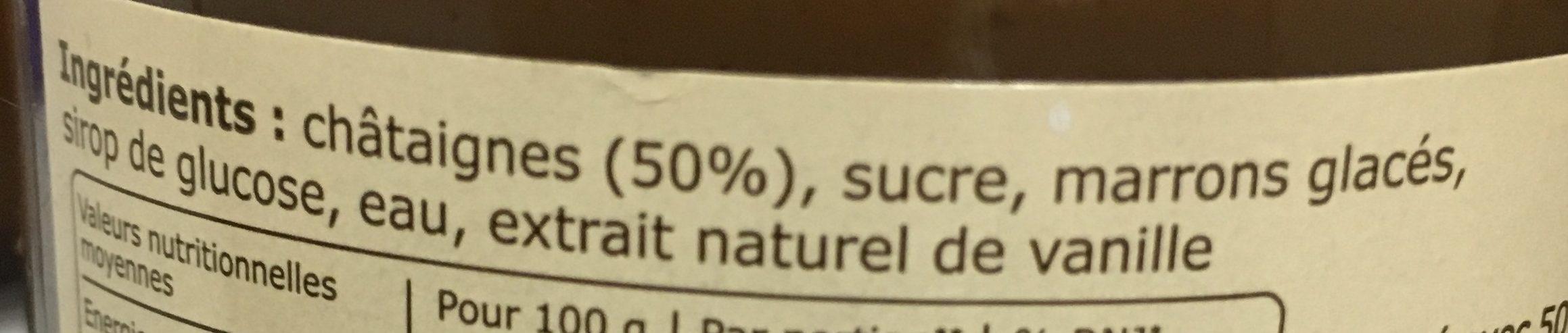 Creme de marrons de l'Ardeche - Ingrédients - fr