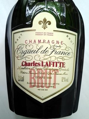 Champagne Orgueil de France - Ingrédients