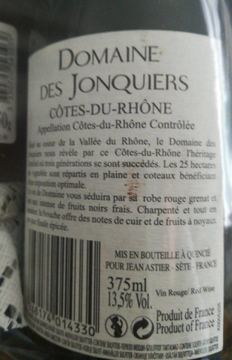 Côtes du rhône - Ingredienti - fr