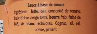 Sauce Armoricaine COURTIN - Ingrédients