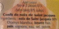 Confit de noix de Saint Jacques - Ingredients