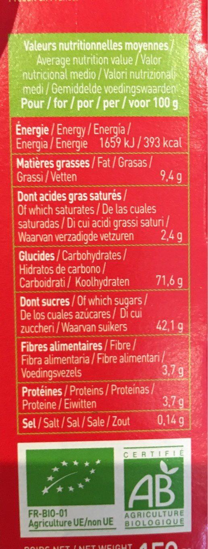 Twibio Fraise - Informations nutritionnelles - fr